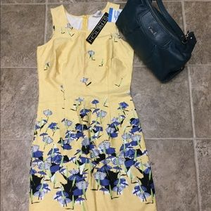 Dresses & Skirts - NWT women's size small yellow/blue dress Nordstrom
