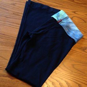 Hard Tail Pants - Hard tail fold over yoga pant