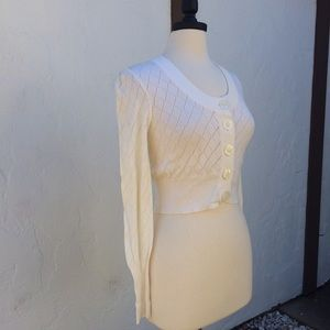 Forever 21 Sweaters - Adorable Cropped Off White Sweater