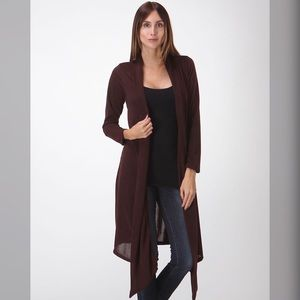 Sweaters - Brown Cardigan  Plus Size and Regular Size