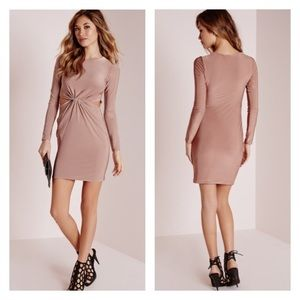 Missguided Dresses & Skirts - ❌NO OFFERS❌MISSGUIDED PINK FRONT KNOT DRESS