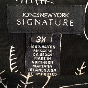 Jones New York Tops - Jones New York Signature Top Blouse Shirt 3X 24