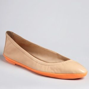 Loeffler Randall Tan & Orange Ballerina  Flats
