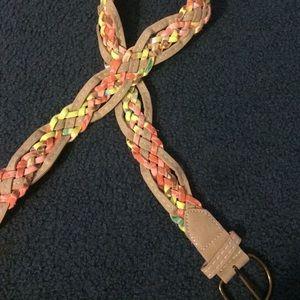 Accessories - multicolored braided belt