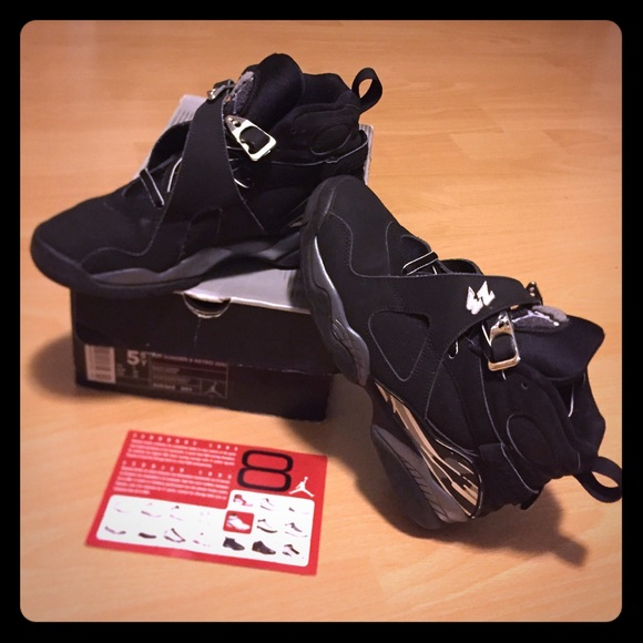 buy online 6c0f9 d1638 Jordan Shoes - Air Jordan 8 Retro (GS) 2003 black chrome.
