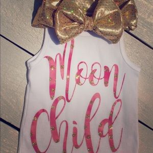 """Moon Child"" Shirt and Headband"