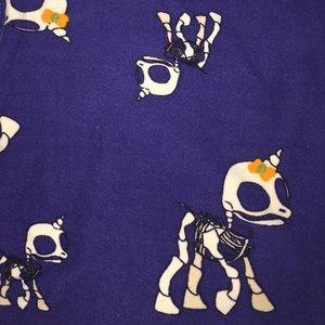 LuLaRoe Pants & Jumpsuits - Lularoe Halloween Leggings OS unicorn skeletons