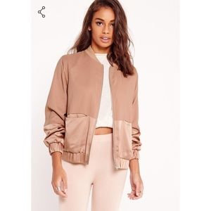Satin Two Tone Bomber NWT