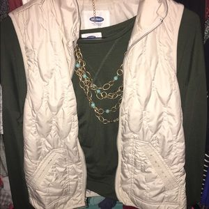 Quilted Cream Old Navy vest