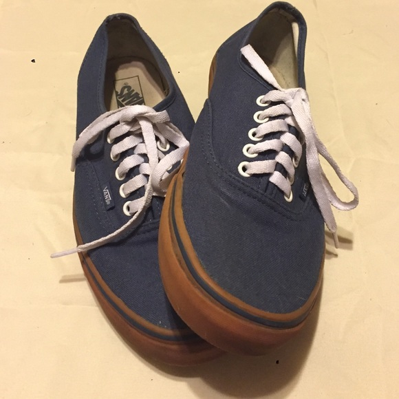 d2fc6597b9 Men s vans. Navy blue with gum sole. Size 12. M 58002c72c284563dd800608b
