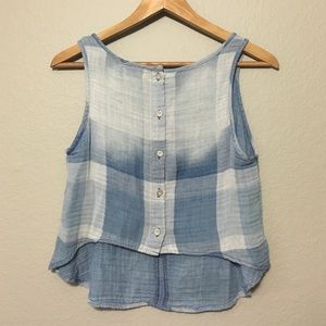 Anthropologie Tops - Anthropologie Cloth and Stone Plaid Top