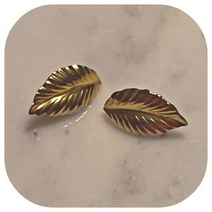 Louis Feraud Jewelry - Louis Feraud Vintage Leaf Earrings