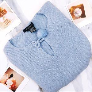 Baby Blue Pom Pom Sweater