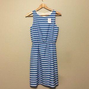 Blue And White Striped J crew Dress