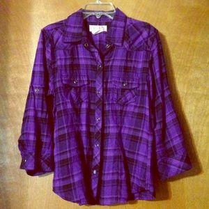 Purple camp shirt