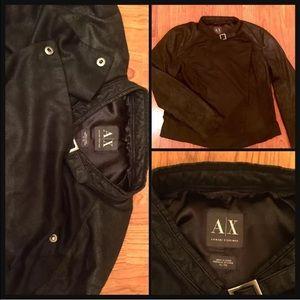 Armani Exchange Jackets & Blazers - ‼️Armani Exchange Moto Jacket Side Snap-Black