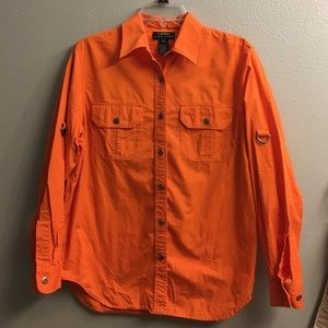 Ralph Lauren- Orange Cotton Button Shirt- M