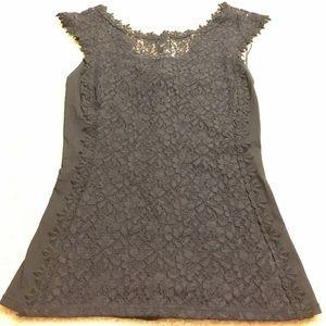 Black lace express top XS