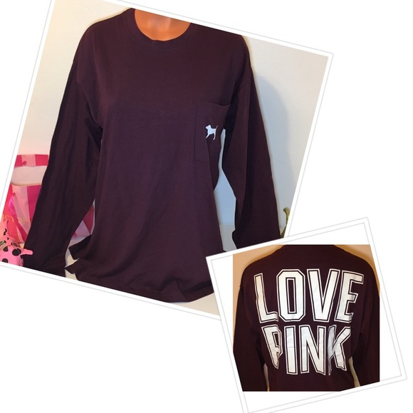PINK Victoria's Secret - 🚫SOLD🚫NEW PINK VS BIG LOGO LONG SLEEVE ...