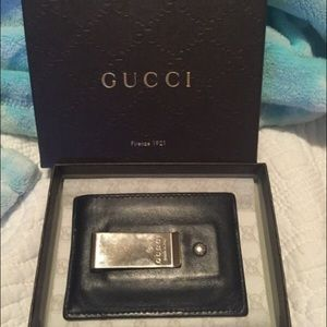 aa9eed9c3645 Gucci Bags | Authentic Money Clip Card Holder | Poshmark