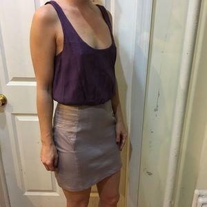 Alice + Olivia Dresses & Skirts - Alice + Olivia Purple Silk Billowy Mini Dress
