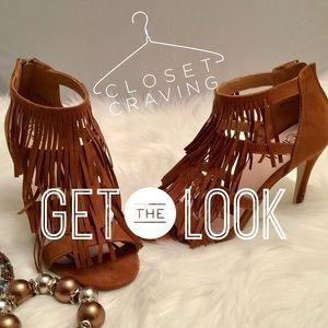 Refresh Beston Shoes - Refresh Beston Fringe Stiletto Heels