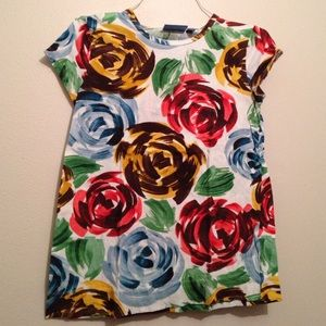 Abstract rose printed tee