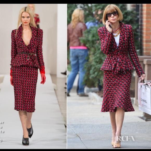 2c7bcfc616 Oscar De La Renta Dress  as seen on Anna Wintour😍