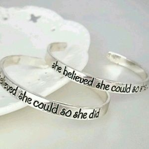 October Love Jewelry - ⚡️SALE⚡️•She Believed She Could Bangle•