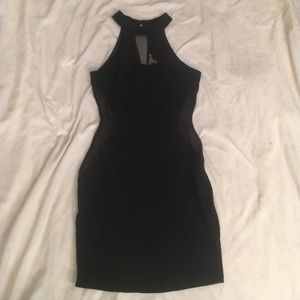 Mesh Cut Out Halter Dress