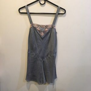 Rebecca Taylor Tops - Rebecca Taylor Grey Silk Embroidered Tunic Top