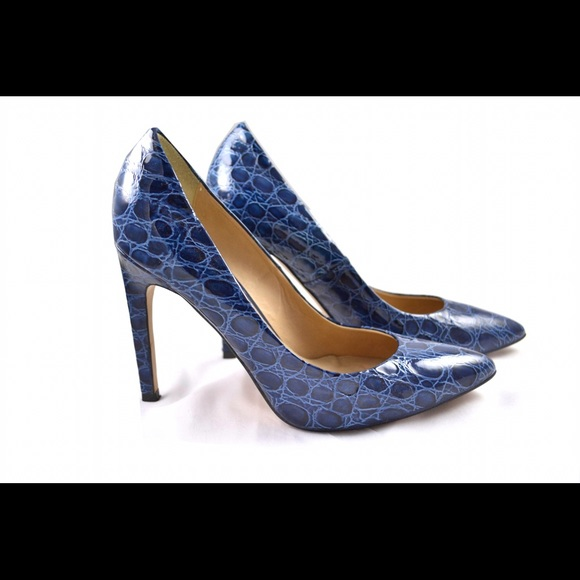 Topshop Shoes | Topshop Blue Crocodile