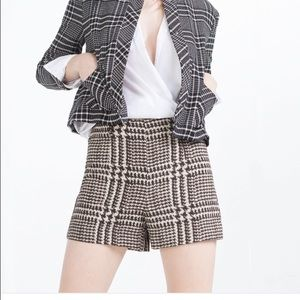 Zara Check Shorts