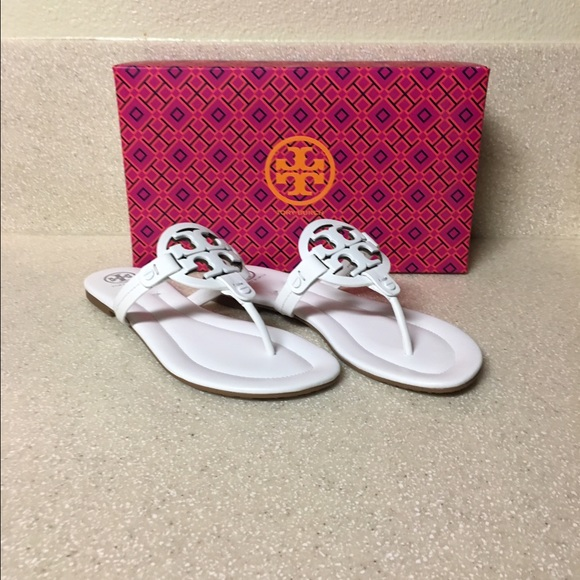 0983cb80c Tory Burch  Miller 2  Hand-Painted White Size 8.5