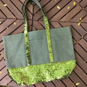 HOLD  large Sequin  tote