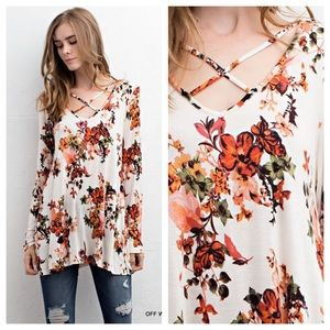Tops - Floral long sleeve top