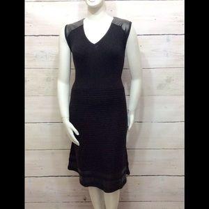 Calvin Klein Dresses & Skirts - 💐💒💐 HP[Plus] Calvin Klein- Dress w Faux Leather