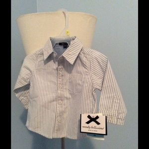 Wendy Bellissimo Other - Baby blue/white stripped button down-6 months