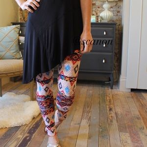 Pants - Colorful Aztec leggings