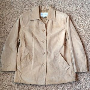 Jaclyn Smith Tan Genuine Leather Jacket Coat S