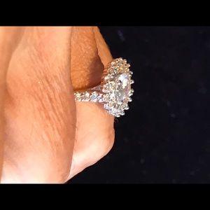 Jewelry - 18 carat WGP size 7. 2carat center