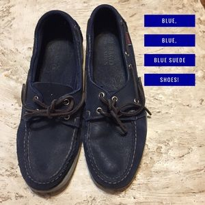 Sebago Other - 🌟Men's Sebago Docksiders. Blue suede. Size 9.5m