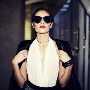 Style Link Miami Tops - WHITE SHEER MESH BODYSUIT