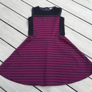 Sally Miller Other - GIRLS BLACK and PLUM DRESS