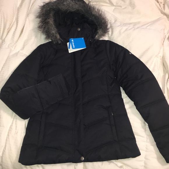 02ca409a1aaf Columbia Jackets   Blazers - Black Columbia Fur Hood Winter Jacket