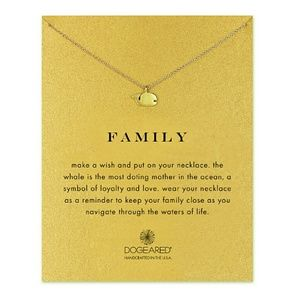 Dogeared Family Whale Necklace - Gold