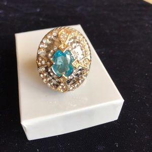 Jewelry - 2.05 CTW Genuine Blue Topaz with White CZ