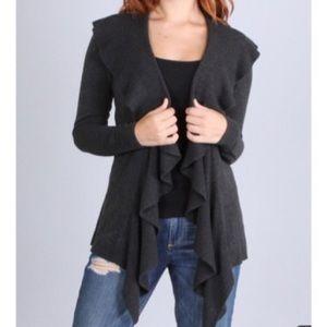 Jackets & Blazers - Ruffle front cardigan 2 LEFT SALE