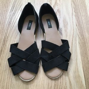 Urban Outfitters Black Suede Sandals