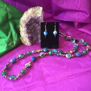 Estate Jewelry - Twilight Fire Necklace & Earring Set